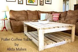 furniture adorable diy pallet coffe table white wash paint