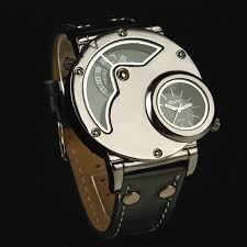 aliexpress com buy hot men s steampunk watch oulm brand aliexpress com buy hot men s steampunk watch oulm brand leather strap fashion men sports wristwatches gtm two time zone quartz watches from reliable