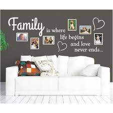 Wandtattoo Spruch Family Is Life Love Bilderrahmen Foto Wandsticker