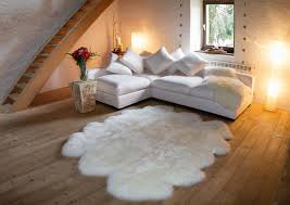 auskin 6 plet ivory sheepskin rug