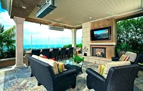 outdoor porch fireplace covered patio with ideas screened fireplaces back firepla