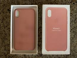 apple iphone x xs leather case soft pink mrgh2zm a