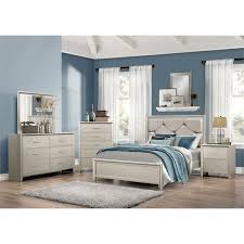 coaster lana 5 piece upholstered king bedroom set in silver