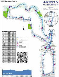 Akron Marathon 2014 2015 Date Registration Course Route Map