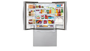 lg refrigerator lfx28968st. with a cavernous 29 cubic feet of space, this lg french door refrigerator gives you ample space for all your family\u0027s favorite foods and keeps lg lfx28968st