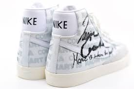 Looking closer, it comes with white canvas across the upper. Comme Des Garcons X Naomi Osaka X Nike Blazer Mid Sz 10 5 Da5383 100 In Search Of