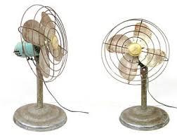 vintage electric fan. green eskimo fan tall vintage distressed metal electric cage office desk industrial decor as is