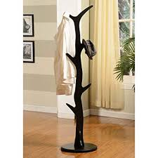 Wooden Tree Coat Rack Mesmerizing Amazon K B Furniture Wooden Tree Coat Rack 32H In Kitchen