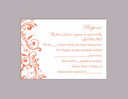 rsvp card template diy wedding rsvp template editable text word file instant download