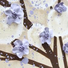 Lavender Nursery Nursery Canvas Art Tree Painting Khaki And Lavender Large Amborela