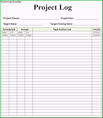 daily activities log template excel free daily activity log template amazing models 7 free project log