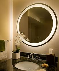 mirror with integrated lighting. Eternity Lighted Mirror At The Shelburne New York Closeup With Integrated Lighting
