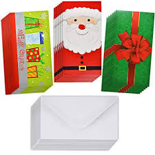 Gift Cards For Christmas 48 Christmas Gift Card Holder Christmas Money Holder Christmas Greeting Cards With Envelopes Bulk Assorted In 3 Holiday Cute Festive Designs With