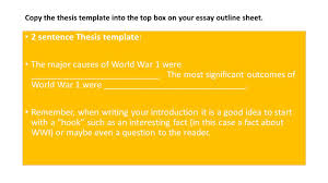 essay about world war world war ii cause and effect essay  introduction leave space for sentence thesis at end of 2 2