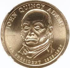 John Quincy Adams Presidency Chart 2008 P John Quincy Adams 1 Ms Presidential Dollars Ngc