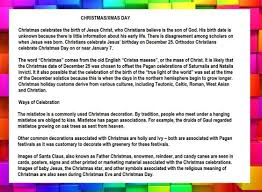 short essay speech on christmas day for school students in  christmas day essay image in english