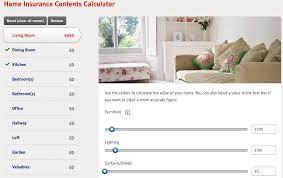 home contents insurance calculator