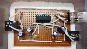 op amp lm324 pre amp for mic to pc not working electrical diagram enter image description here