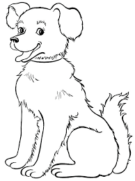 Free Animal Coloring Pages Kids Beautiful Dog Coloring Page Coloring ...