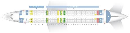 Seat Map And Seating Chart Boeing 737 800 Ethiopian