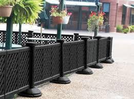 restaurant patio fence. Perfect Restaurant Black Portable Decorative Patio Fence To Restaurant E