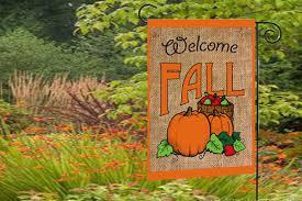 fall garden flags. Burlap Fall Garden Flags M