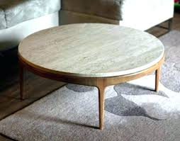 marble and wood coffee table round large