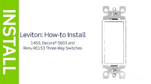 leviton presents how to install a three way switch you also 3 wiring diagram