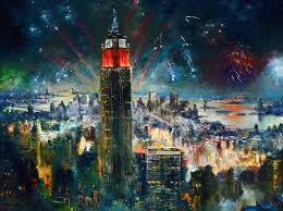 nyc painting nyc in fourth of july independence day by ylli haruni