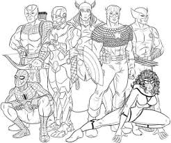 Avengers Printable Coloring Pages At Getdrawingscom Free For