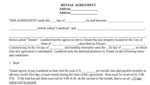 Simple Rental Agreement Template Simple Rental Agreement Template Word 10 Simple Rental Agreement