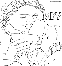 Mother And Baby Giraffe Coloring Page In Mom And Coloring Pages ...