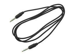 1m klinkenkabel audiokabel schwarz stereo aux kabel für auto mp3