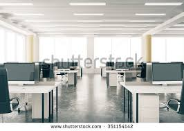 loft office furniture. Modern Open Space Loft Office With Furniture, Concrete Floor, Big Windows And Pillars 3D Furniture