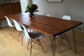 Hairpin dining table Dining Room Image Etsy Reclaimed Wood Dining Table With Hairpin Legs Handmade In Etsy