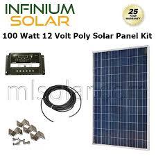 rv solar panel kit solar kit 100watt 100 w 100w 12v battery charger solar panel pv off grid rv boat