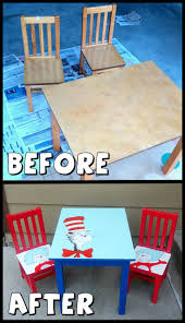 painted kids furniture. Dr. Seuss Kids Table With Cat In The Hat, Thing 1, And Painted Furniture I