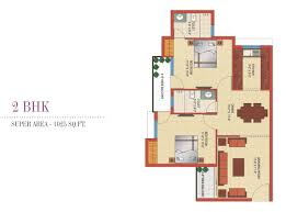 floor plan. 2bhk Flats In Mohali Floor Plan