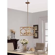 gold leaf moroccan 4 light chandelier