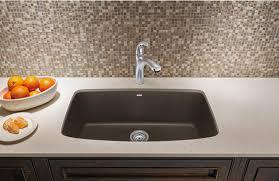 Blanco 441613 Valea Super Single Bowl Silgranit II Undermount Blanco Undermount Kitchen Sink