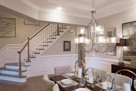 Caress chandelier featured; Deerfield Model Home at Regency at White Oak  Creek, courtesy of Toll Brothers and Possibilities for Design. Dining Rooms