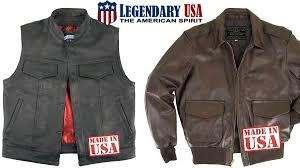 legendary usa motorcycle jackets and chaps