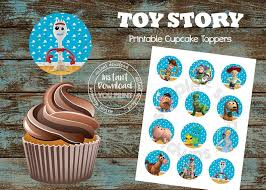 Toy Story 4 Cupcake Toppers Toy Story Decorations Toy Story Etsy