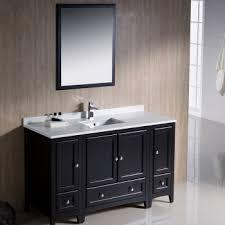 single sink traditional bathroom vanities. Exellent Traditional 54 Inch Basin Single Sink Espresso Traditional Bathroom Vanity  FVN20123012ES 01 And Vanities R