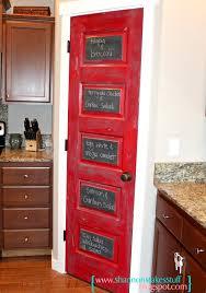 View in gallery Red Chalkboard Pantry Door