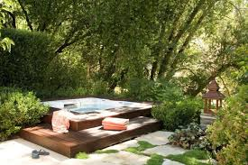 an outdoor spa is one of those things that could make your backyard special