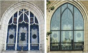 stained glass repairing stained glass windows church ma ct me protective covering and frame repair
