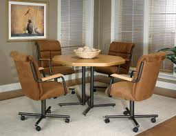 Kitchen  Kitchen Chairs With Wheels Throughout Wonderful Kitchen - Casters for dining room chairs