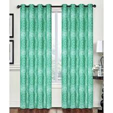 creative home lime green ornate rebecca grommet window panel 35 liked on polyvore featuring home home decor window treatments curtains grommet