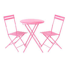 metal bistro set. Metal Bistro Table And Chairs Pink Set Small Patio